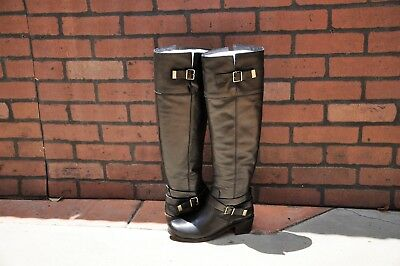 e031a88e8b5 UGG BESS BLACK Leather Over the Knee High Buckle Boots Size US 8.5 ...