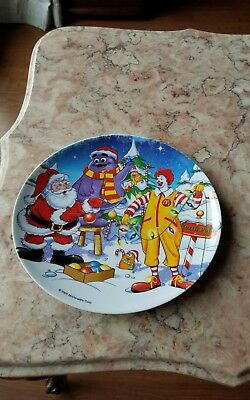 Collectible McDonald's Christmas Child's Plate