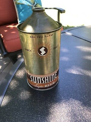 Sunshine Quart Cone Top Beer Can