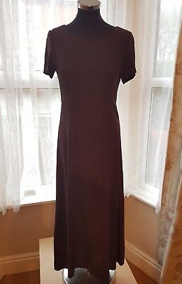 Beautiful Burgundy Vintage Size 12 long LAURA ASHLEY long dress