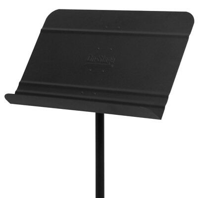 On-Stage Stands SM7711 Orchestra Music Sheet Stand Black Aluminum Bookplate