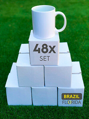 Blank 11 oz White Mugs for Sublimation Heat Press - 48 piece case