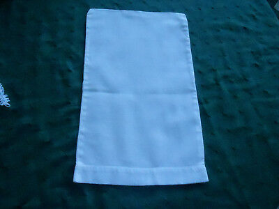 Antique Handmade Baby Pillowcase, Hand Stitched White Cotton, Circa 1920