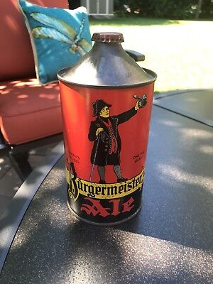 Burgermeister Quart Cone Top Beer Can