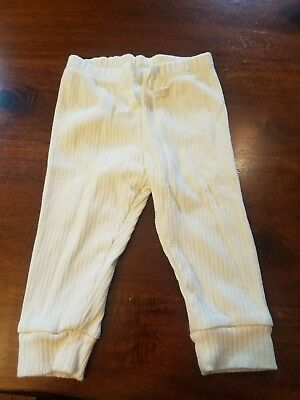 Gap 6-12 Month organically grown Cotton Pants Cream Color Unisex Gently Used
