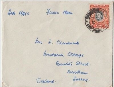 Stamp Kenya 20c KGV1 1951 cover forces mail Headquarters re Mau Mau rebellion
