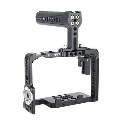 NICEYRIG Camera Cage Cheese Top Handle Grip for Sony a9 A7RIII A7M3 A7RII A7SII