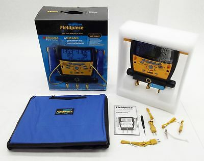 New Fieldpiece Sman2 Hvacr 3-Port Digital Refrigerant Manifold Hvac