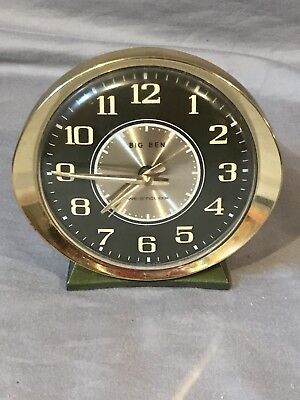 Vtg Deco WESTCLOX BIG BEN Alarm CLOCK Made In USA Running Works Well
