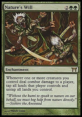 Nature's Will ~ Champions of Kamigawa ~ Excellent ~ Magic The Gathering