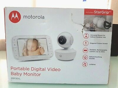 Motorola Portable Digital Video Baby Monitor MBP36XL
