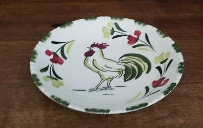 Vintage Blue Ridge Pottery Cock o' the Walk Pattern Rooster Cereal Serving Bowl
