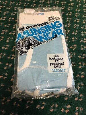 VTG Munsingwear Kangaroo Medium Rise Pouched Brief USA Underwear 32 Baby BLUE