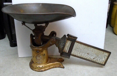 1915 Pelouze Superb Computing Candy Scale - Cast Iron w/Brass Tray -for repair