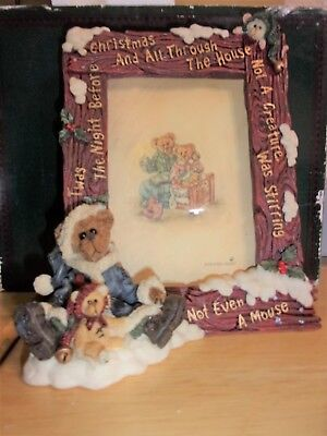 1998 Boyds Bears & Friends Edmund The Night Before Christmas Picture Frame 27302