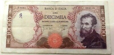 1962 ITALY RARE Banknote Michelangelo 10000 lire UNC high quality