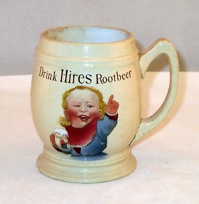 Antique Hires Root Beer Mug Villeroy Bach Mettlach Pottery Mug Early 1900s