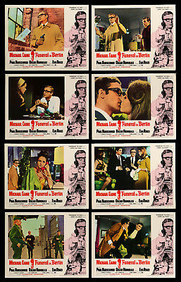 FUNERAL IN BERLIN complete original lobby card set Michael Caine 1967