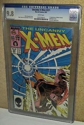CGC 9.8 Uncanny X-Men #221 White pages. 1st Appearance of Mister Sinister. 1987.