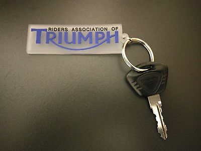 5x Triumph Motorcycle Riders Association Rubber Keychain
