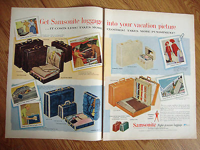 1954 Samsonite Luggage Ad  Get Into Your Vacation Picture
