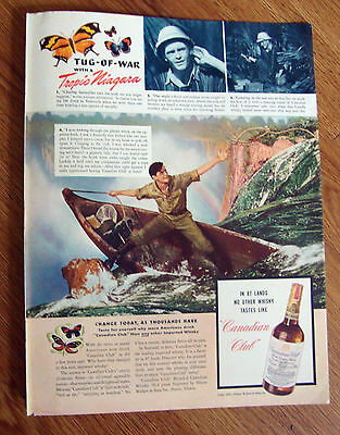 1941 Canadian Club Whiskey Ad 1941 Camel Cigarettes Ad Dorothy Van Nuys