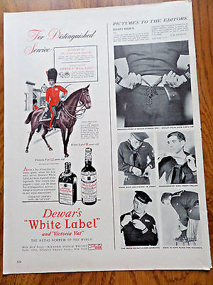 1942 Dewar's Whiskey Ad Lot of 2 Ads Guards