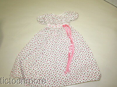 Vintage Madame Alexander Doll Tagged Pink Tulips Dress Gown Outfit