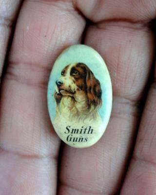 The Hunter Arms Co L.c. Smith Guns Advertising Celluloid Clothing Button