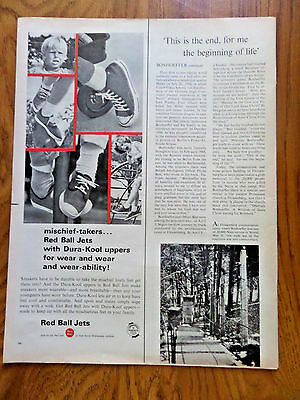 1965 Red Ball Jets Shoes Sneakers Ad  for Mischief-Takers