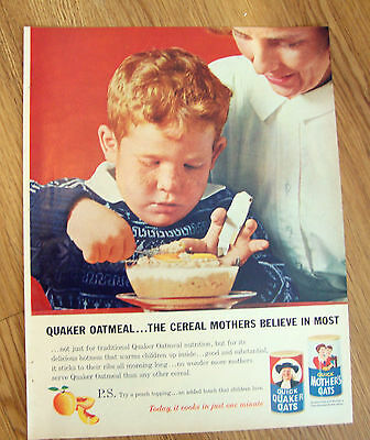 1962 Quaker Oats Cereal Ad The Cereal Mothers Believe in Most
