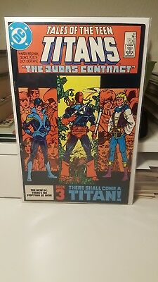 Tales Of The Teen Titans #44.     (Vg+)   ~1St App. Of Nightwing~   Key.   1984