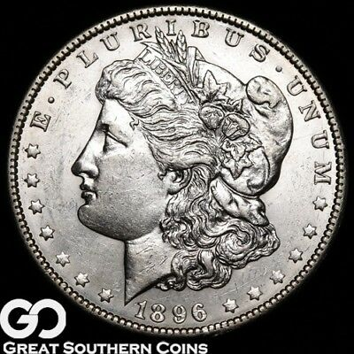 1896-O Morgan Silver Dollar, Very Tough In MS Conditions, Key Date!