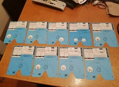 HPC 1200 BLITZ Key Code Cards For Motorcycles All 9 Brand New Cards HPC 1200