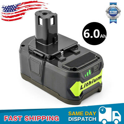 6.0AH 18V Li-ion P108 P104 Battery For RYOBI One+ Plus RB18L25 RB18L50 P102 P191