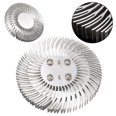 Round Spiral Aluminum Heat Sink Radiator 90x10mm For 10W LED High Power Lamp UK