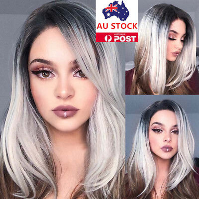 18'' Women Short Straight BOBO Wig Synthetic Hair Anime Cosplay Party Wig+Cap
