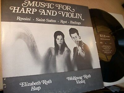 """LP 12"""" Music for Harp and Violin - Elizabeth + Wolfgang Roth"""