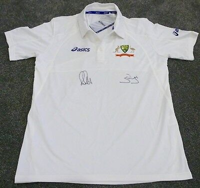 Ricky Ponting  Steve Waugh  Hand Signed Limited Edition Test Shirt