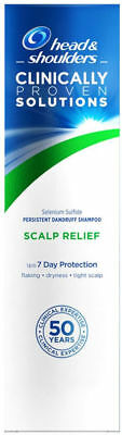 6 X 250ml Head & Shoulders Clinically Proven Solutions Shampoo Scalp Relief NEW