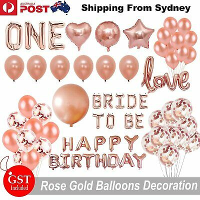 Rose Gold Balloon Set Air Foil Balloons Party Baby Shower Birthday Wedding Latex