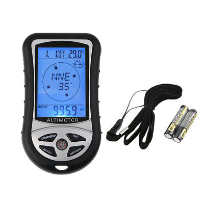 8 in 1 Digital LCD Compass Höhenmesser Barometer Thermometer Kalender für Outdoo