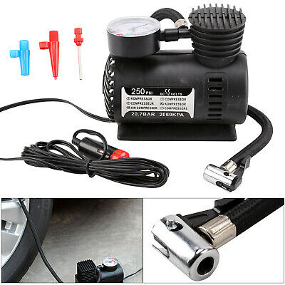 12V 300PSI Compact Air Compressor Pump Bike Car Van Tyre Inflator Bicycle UK