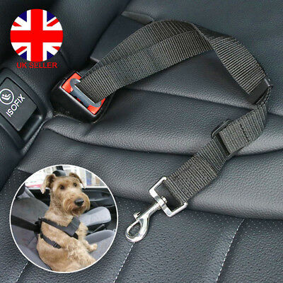 Pet Dog Puppy Car Safety Seat Belt Harness Adjustable Restraint Metal Clip L4U