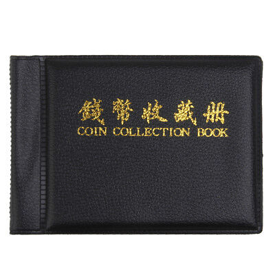 Banknote Currency Collection Coin Album Book 60 Holders Money Pocket Black