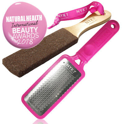 NYK1 Pink MEGAFILE Foot File Pedicure Rasp THE ORIGINAL & NYK1 Curved SMOOTHIE