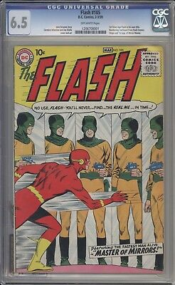 FLASH 105 - CGC 6.5 - First Mirror Master Appearance - DC Comics