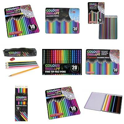 Colour Therapy  New Artists Colouring Pencils Professional Quality Metallic
