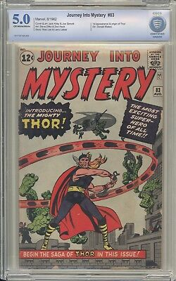 JOURNEY INTO MYSTERY 83 - CBCS 5.0 - First Thor Appearance - Marvel Key Comic