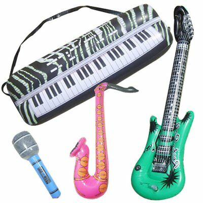 Inflatable Simulated Musical Instrument Toy Guitar Sax Organ MicrophoneLP